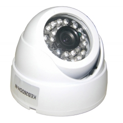 Camera Infra Dome 20 Mt Lente 3,6 Mm 600L Branca ambiente interno